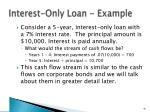 interest only loan example