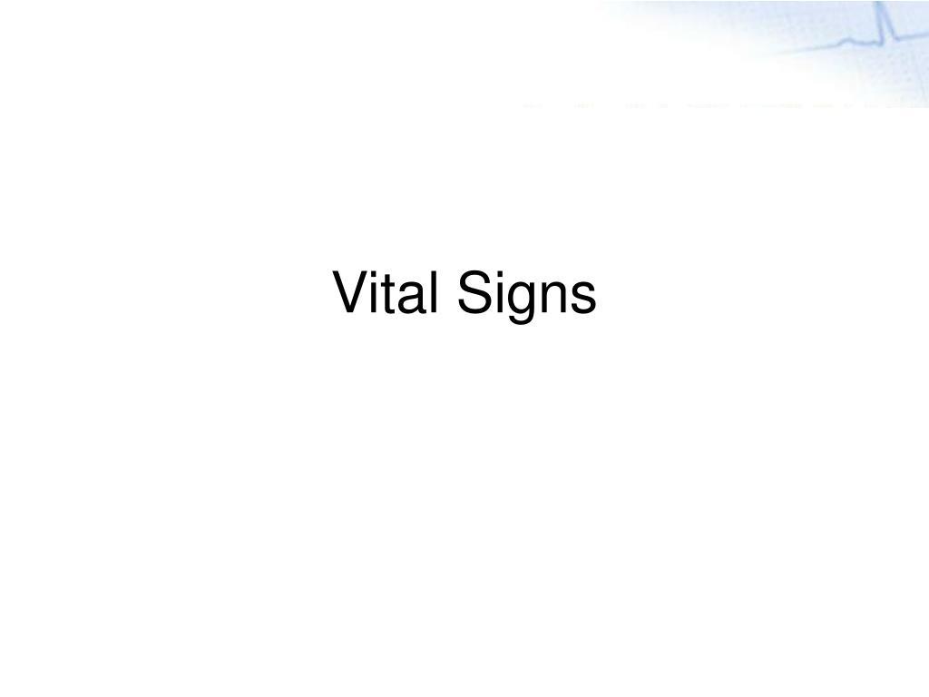 vital signs l.