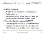 vehicular ad hoc network vanet