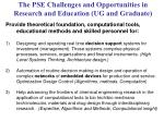 the pse challenges and opportunities in research and education ug and graduate
