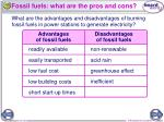 fossil fuels what are the pros and cons