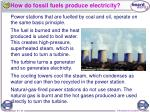 how do fossil fuels produce electricity