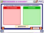 non renewable or renewable