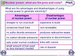nuclear power what are the pros and cons