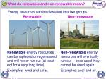 what do renewable and non renewable mean