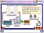 what happens in a coal oil power station