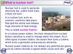 what is nuclear fuel