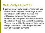 mesh analysis cont d