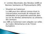 4 limites maximales des r sidus lmr et normes sanitaires et phytosanitaire sps