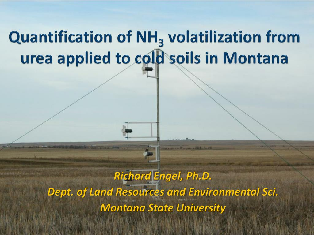quantification of nh 3 volatilization from urea applied to cold soils in montana l.
