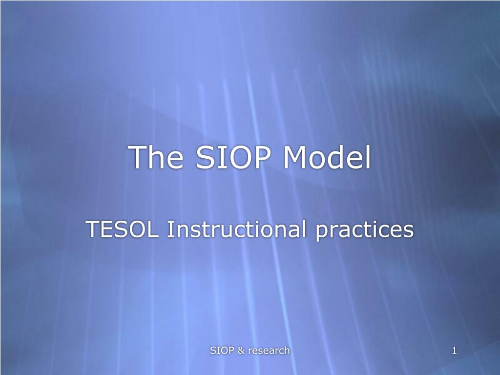 the siop model l.
