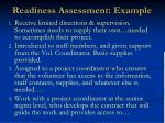 readiness assessment example