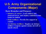 u s army organizational components major