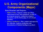 u s army organizational components major10
