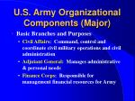 u s army organizational components major11