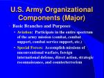 u s army organizational components major8
