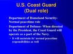 u s coast guard dual role