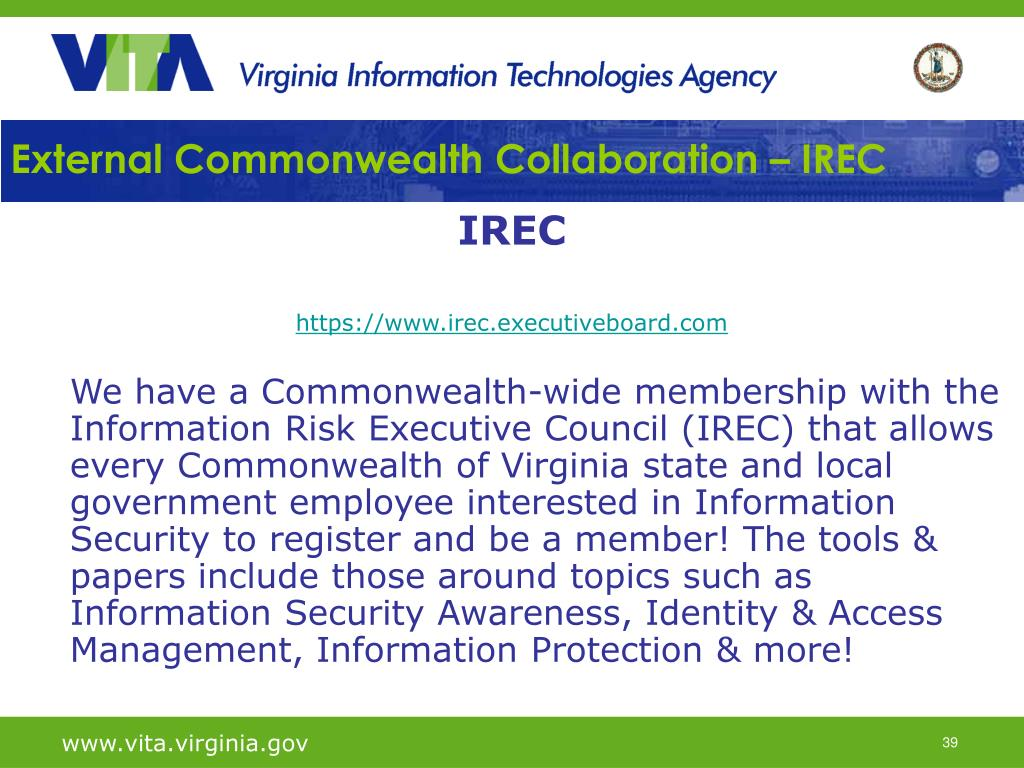 External Commonwealth Collaboration – IREC