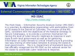 external commonwealth collaboration ms isac