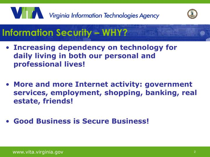 Information security why