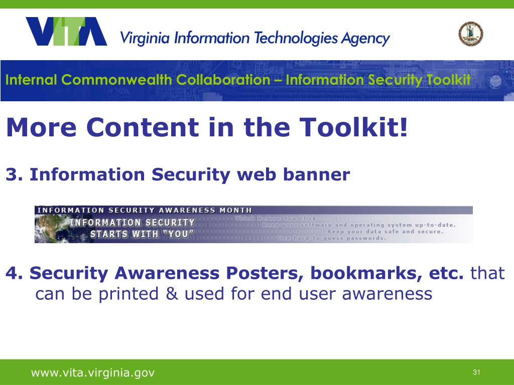 Internal Commonwealth Collaboration – Information Security Toolkit