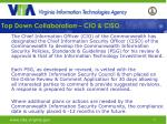 top down collaboration cio ciso