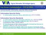 top down collaboration cio ciso16