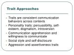 trait approaches