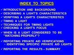 index to topics