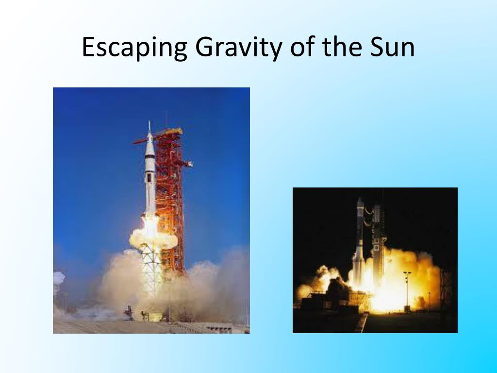 escaping gravity of the sun l.