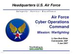 air force cyber operations command mission warfighting