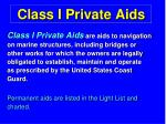 class i private aids