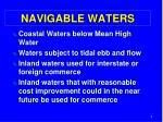 navigable waters