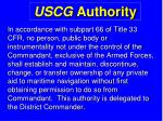 uscg authority