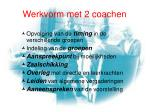 werkvorm met 2 coachen