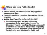 where was local public health