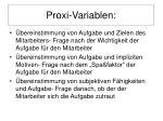 proxi variablen