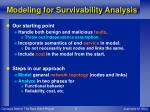 modeling for survivability analysis
