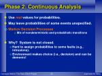 phase 2 continuous analysis