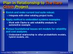 plan in relationship to the rare glitch project