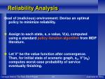 reliability analysis