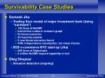 survivability case studies