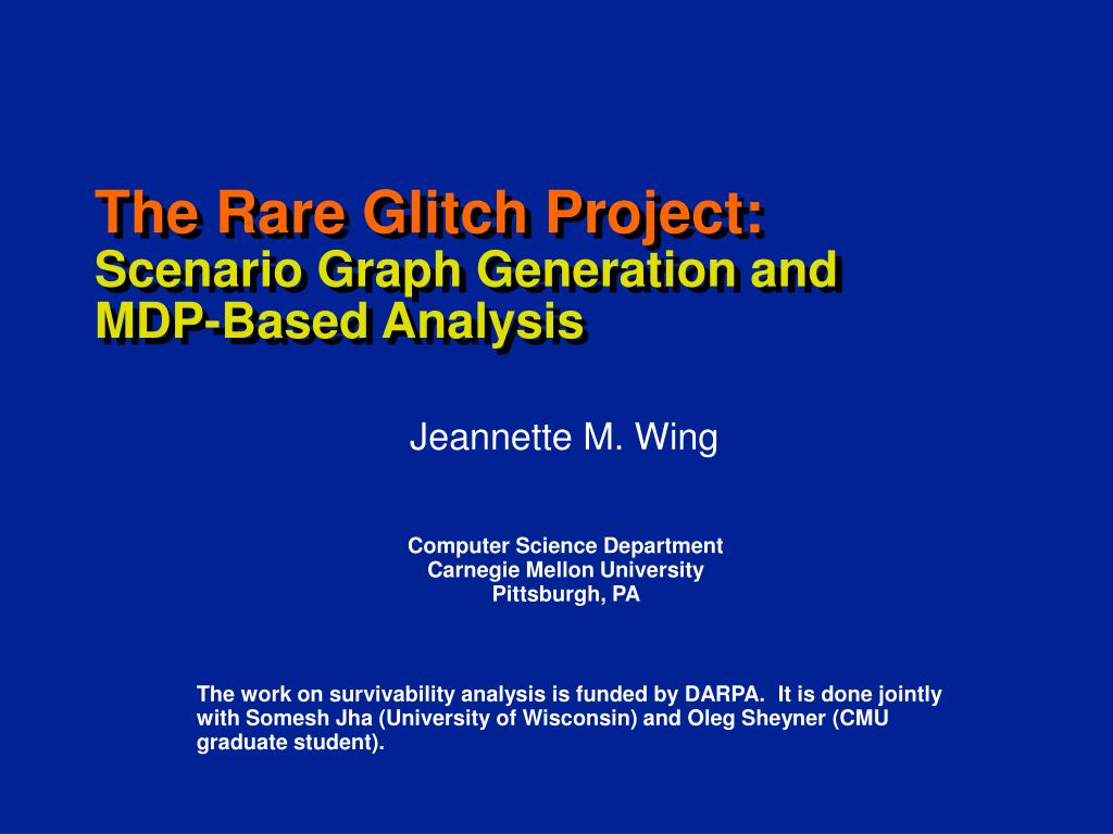 the rare glitch project scenario graph generation and mdp based analysis l.