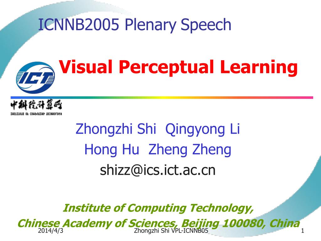 icnnb2005 plenary speech v isual perceptual learning l.
