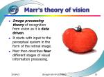 marr s theory of vision