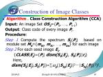 the construction of image classes