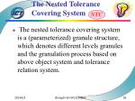 the nested tolerance covering system