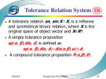 tolerance relation system54