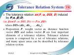 tolerance relation system55