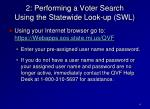 2 performing a voter search using the statewide look up swl